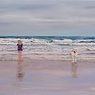 Fun on the Beach by Mike Paget