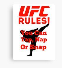 UFC Rules Canvas Print