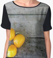Yellow tomato Chiffon Top