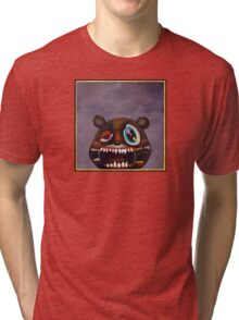 Kanye West - My Beautiful Dark Twisted Fantasy Bear Tri-blend T-Shirt