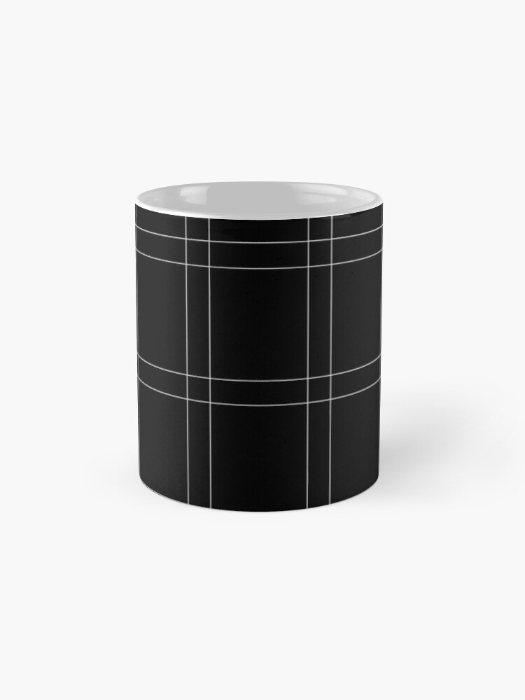 Alternate view of Elegant black n' white stripes Mugs