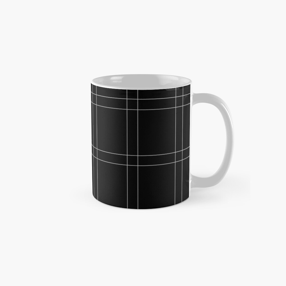 Elegant black n' white stripes Mugs