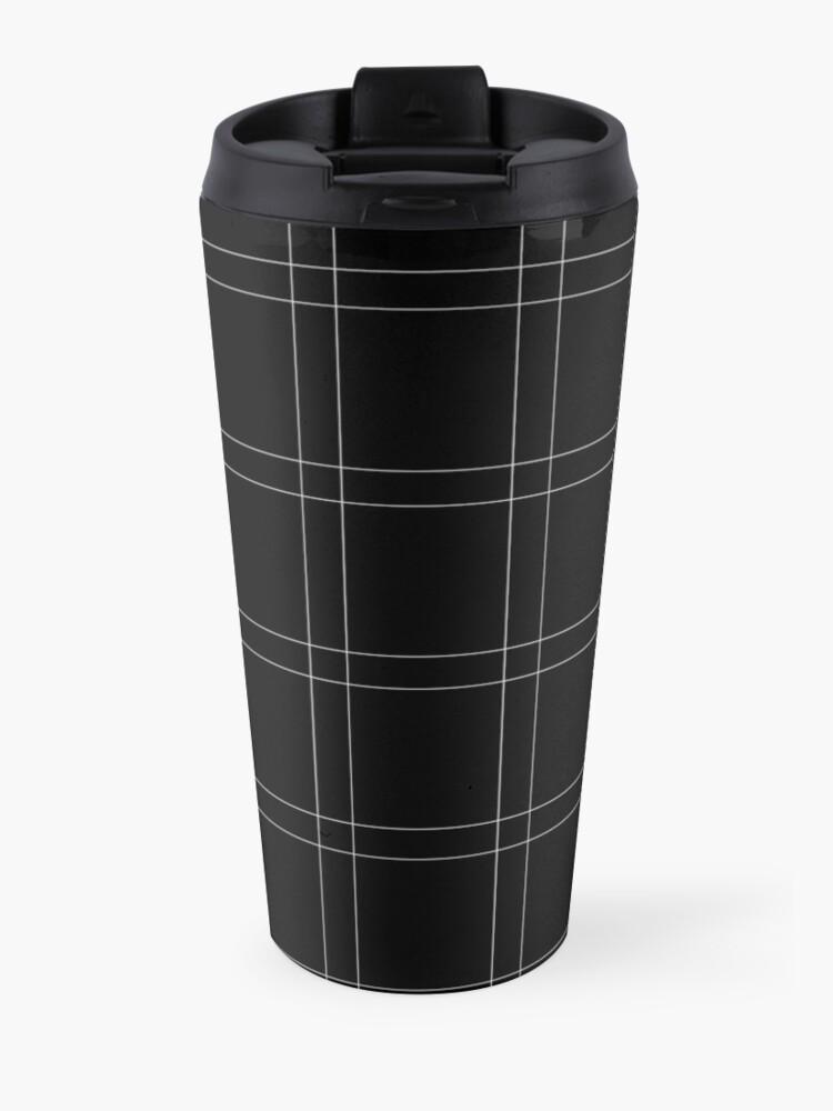 Alternate view of Elegant black n' white stripes Travel Mug