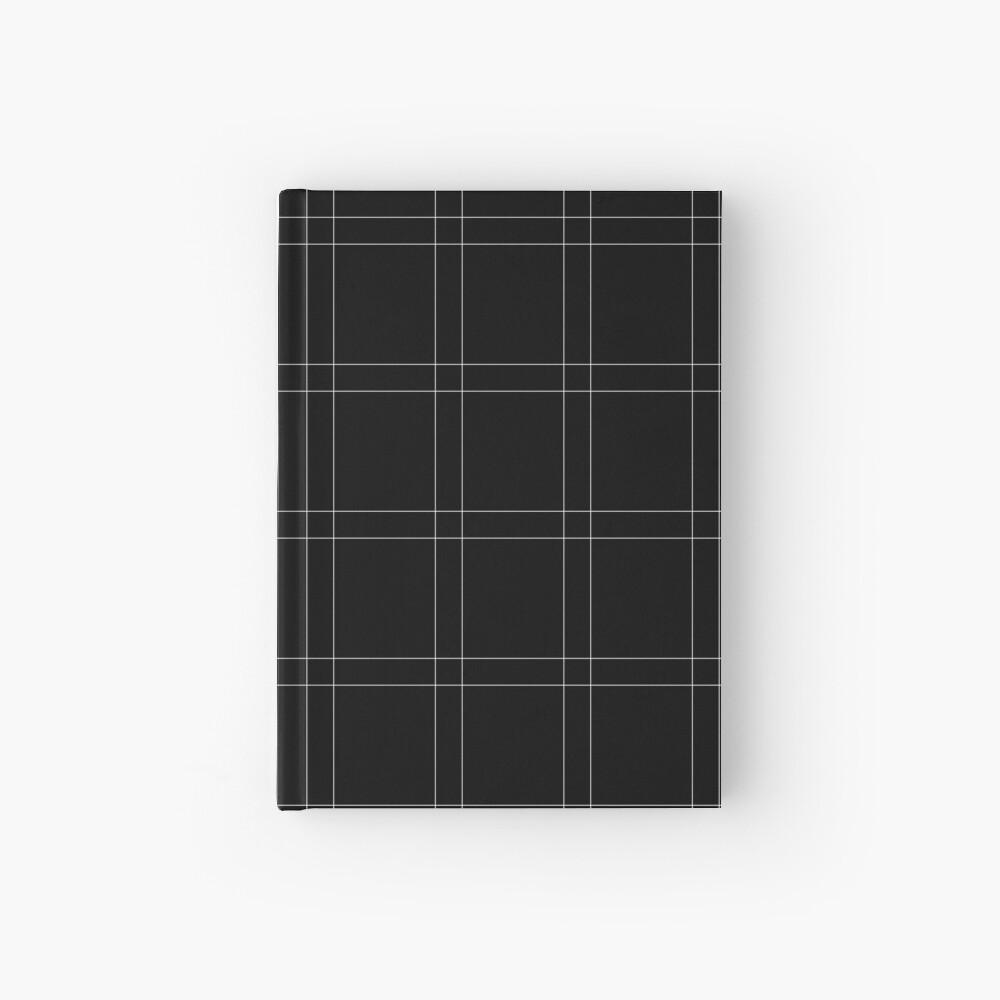 Elegant black n' white stripes Hardcover Journal