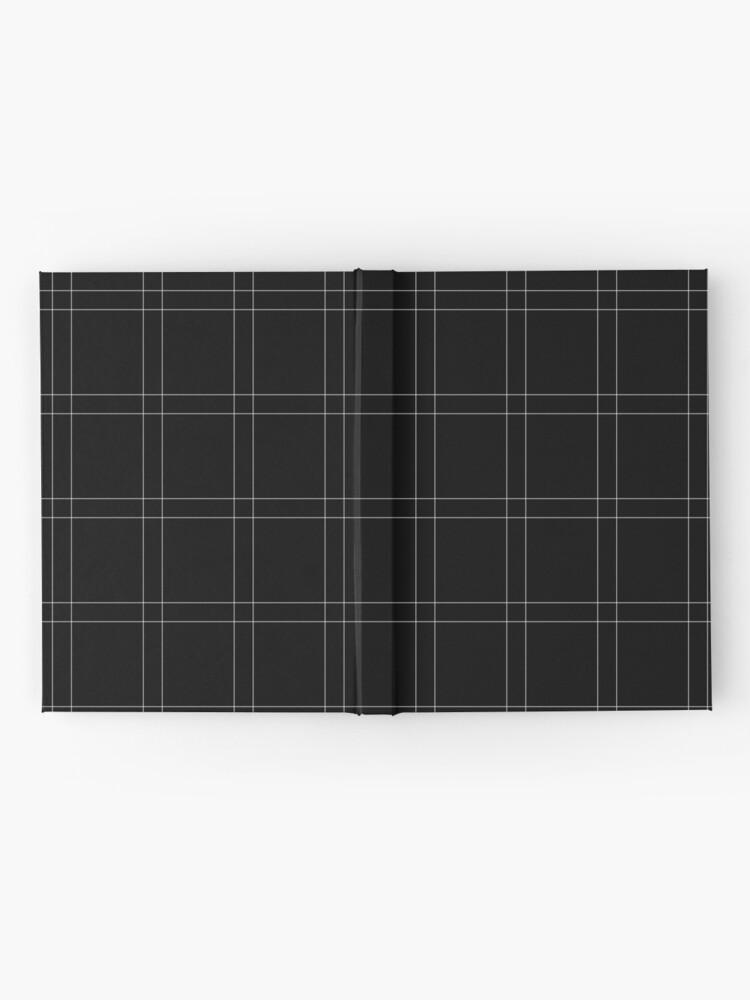 Alternate view of Elegant black n' white stripes Hardcover Journal