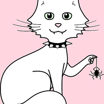 Cute cat with spider by catsandstars