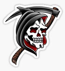 Grim Reaper Skull Sticker