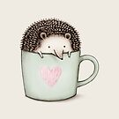 Hedgehog in a Mug by Sophie Corrigan