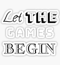Let The Games Begin Gifts Merchandise Redbubble