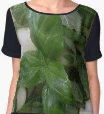 Green-white salad Chiffon Top