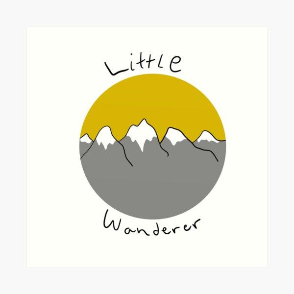 Little wanderer doodle Art Print