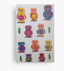 Unique Owls Metal Print