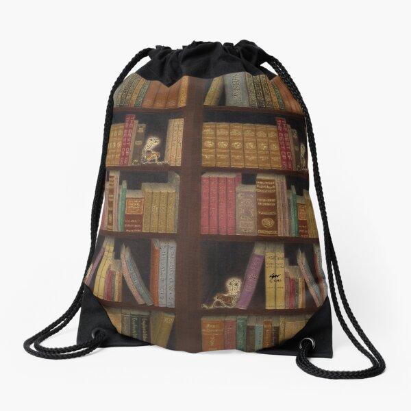Bookcase Drawstring Bag Drawstring Bag