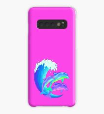 Psychedelic Dolphins Case/Skin for Samsung Galaxy