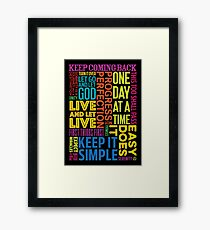 Recovery Greeting Cards Framed Print