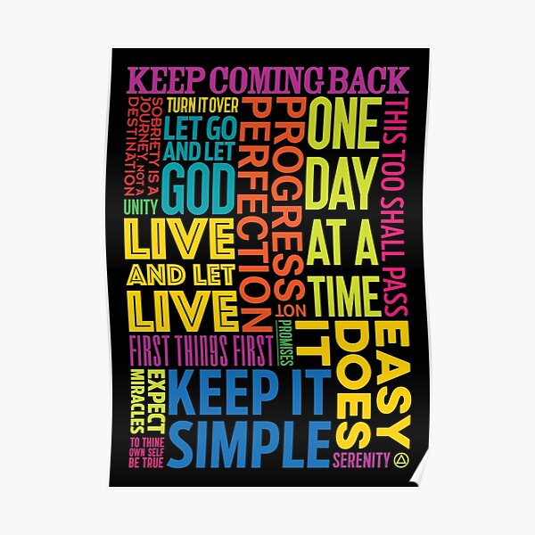 Recovery Greeting Cards Poster