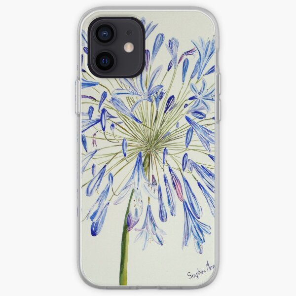 Isles of Scilly 'Agapanthus' iPhone Soft Case
