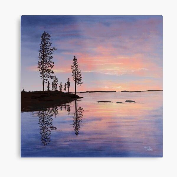 Sweet Summer Evening - Lapland8seasons Metal Print