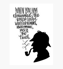 Sherlock Holmes Quote Photographic Print