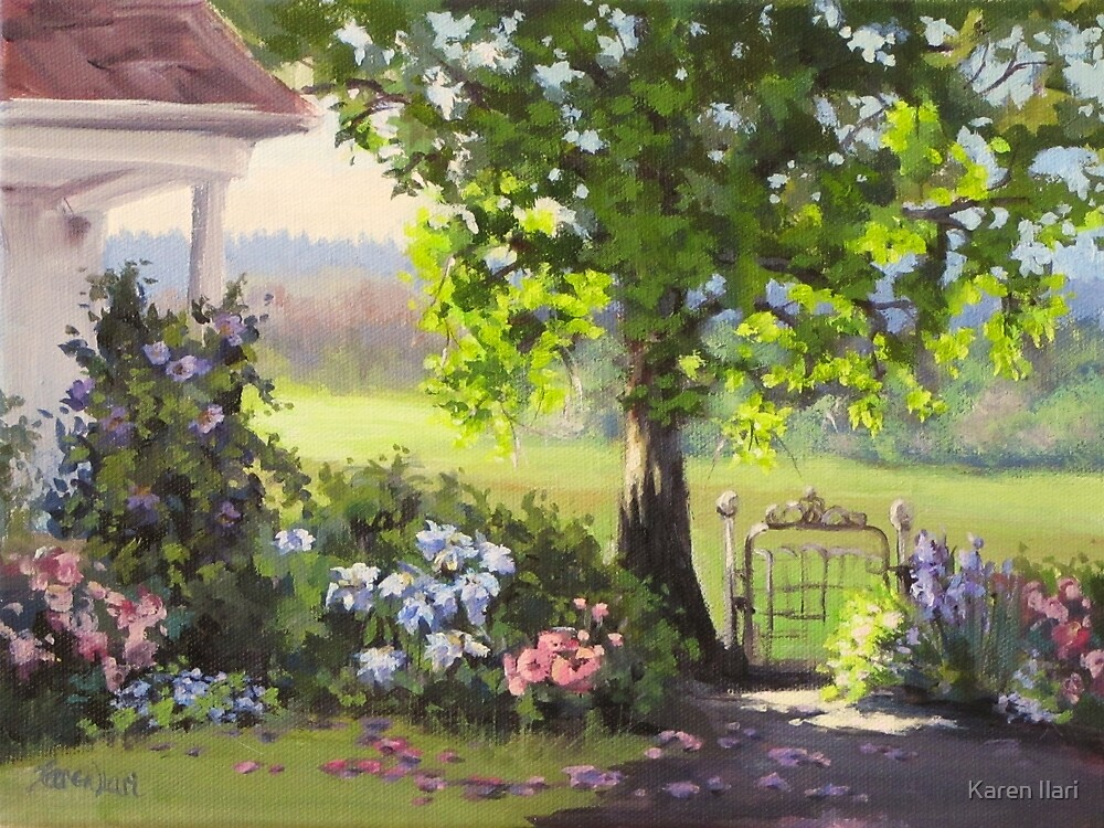 Image result for painting garden gate