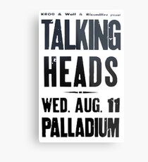 Talking Heads - Concert Poster Metal Print