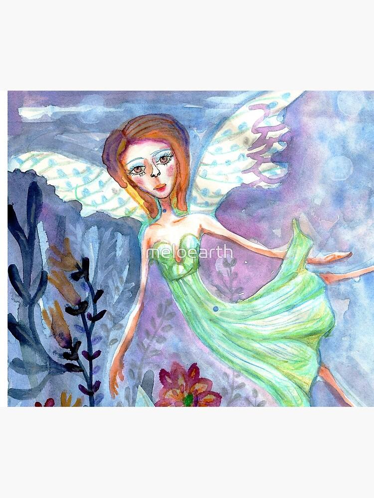 Fairy Angel in Green Dress Meloearth by meloearth