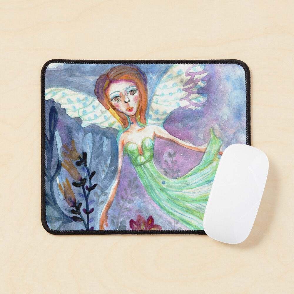 Fairy Angel in Green Dress Meloearth Mouse Pad