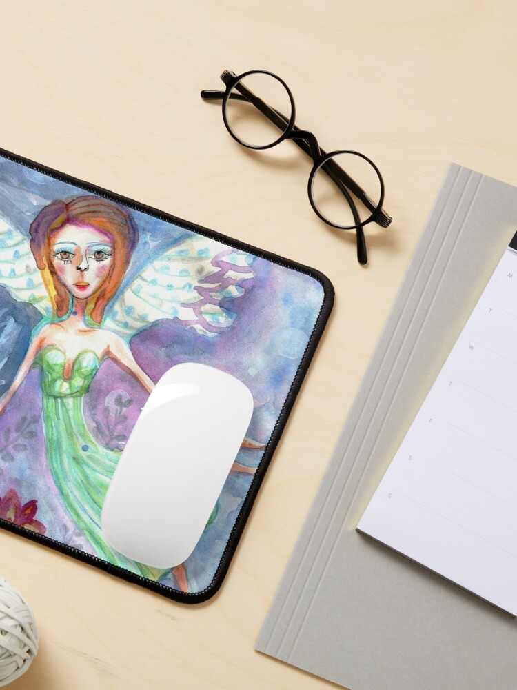 Alternate view of Fairy Angel in Green Dress Meloearth Mouse Pad
