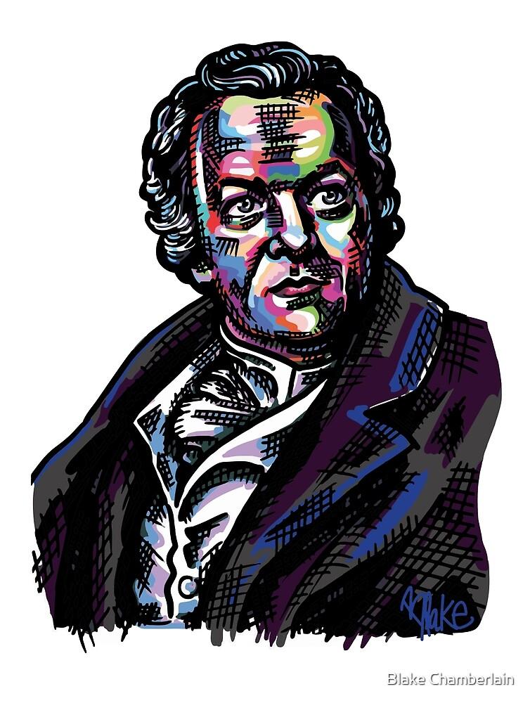 Colorful William Blake Portrait by Blake Chamberlain