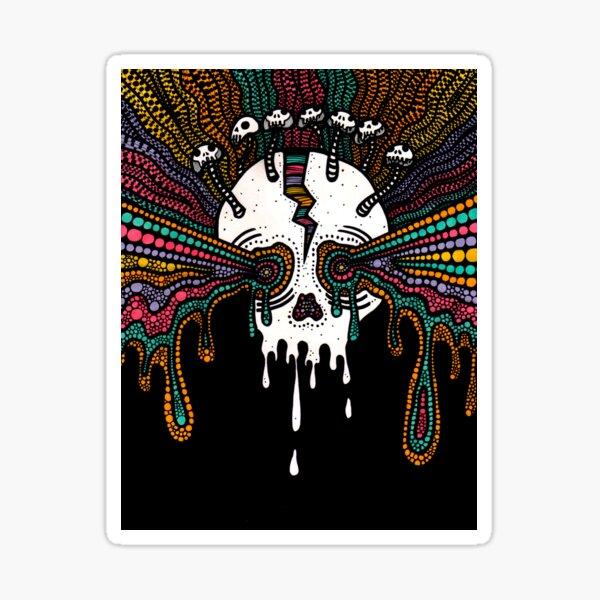 Skull Splitter: Psychedelic Headache Sticker