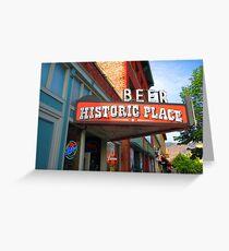 Beer, Historic Place, Ogden, UT Greeting Card