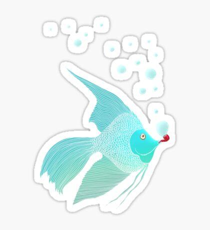 Bubble Fish Red Pipe Sticker
