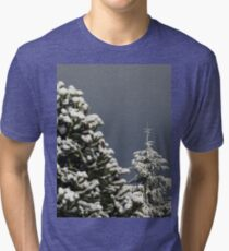 Snow Covered Trees Tri-blend T-Shirt