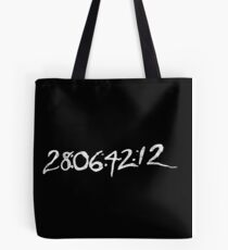 "Donnie Darko ""28:06:42:12 - World's End"" Tote Bag"