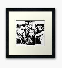 B&W BtVS Trio Framed Print