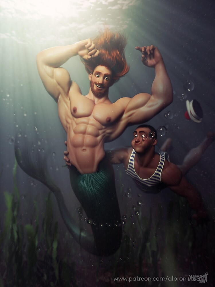 Quot The Big Merman Quot By Albron Redbubble