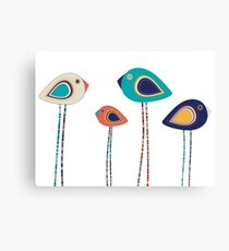 Leggy cute birds  Canvas Print