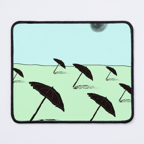 Beach Umbrellas | Chic Design for Summer and Dreams of Summer Mouse Pad