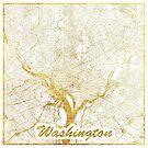 Washington Karte Gold von HubertRoguski