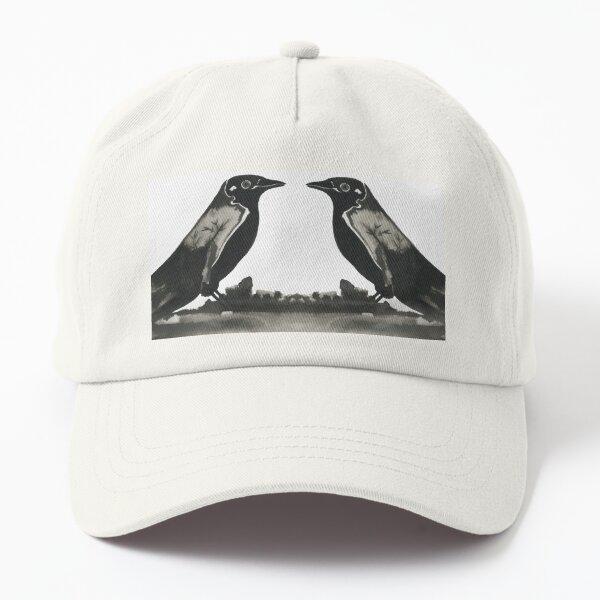 oiseau à l'encre de Chine Casquette Dad Hat