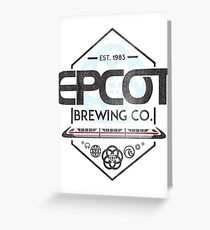 Epcot Brewing Company Greeting Card