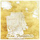 San Francisco Karte Gold von HubertRoguski