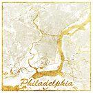 Philadelphia Karte Gold von HubertRoguski