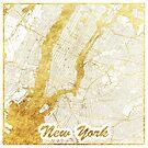 New York Karte Gold von HubertRoguski