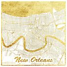 New Orleans Map Gold by HubertRoguski