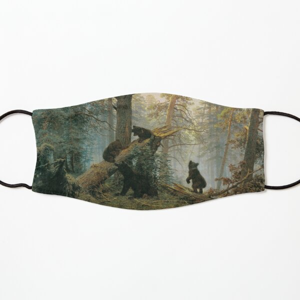 И. И. #Шишкин, К. А. Савицкий. Утро в сосновом лесу. 1889. Холст, масло. 139 × 213 см. Третьяковская галерея, Москва. #IvanShishkin #MorningInAPineForest #MorningInPineForest, Kids Mask
