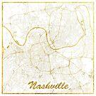 Nashville Karte Gold von HubertRoguski