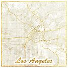 Los Angeles Map Gold by HubertRoguski