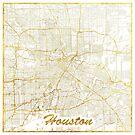 Houston Karte Gold von HubertRoguski