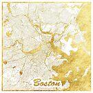 Boston Karte Gold von HubertRoguski